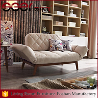 European style family bedroom colorful wooden fabric folding sofa