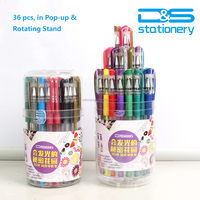 36pcs rotating stand, colored pen