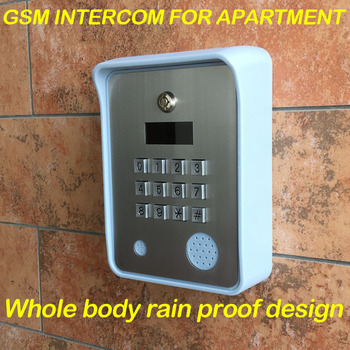 gsm intercom audio intercom for apartment Working for 500 houses