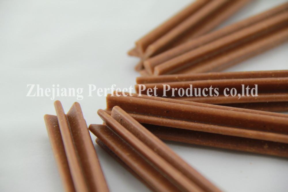bacon dog treats hexagonal sticks apple dog food