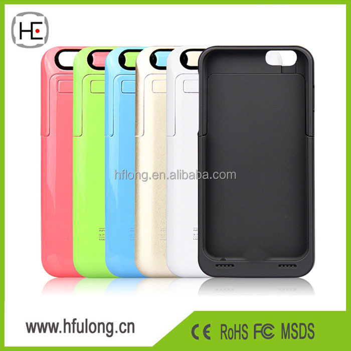 Top Quality 3500mAh External Battery Power Bank Case Pack Backup Charger Cover with Stand for iPhone 6 6S 4.7