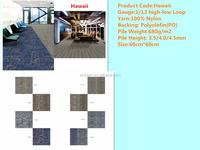 Hawaii Best price commercial design custom 50x50cm residential carpet tile