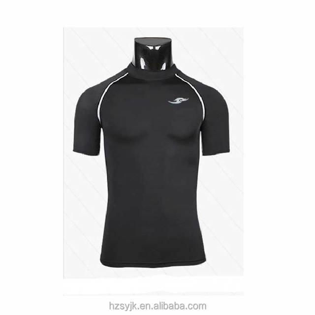 Comfortable short sleeves tshirt gym white scoop neck sport t shirt for men