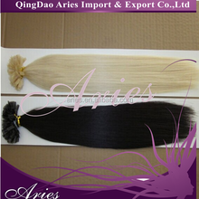 Custom Prebonded Keratin Fusion Virgin Single Drawn #613 Human Hair Extensions
