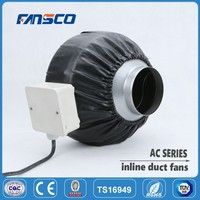 "Factory price 2"" steel low noise Centrifugal Inline Duct Fan for ventilation and exhaust"