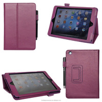 Chinese experienced factory wholesale pu leather tablet case for iPad mini 2/3 with stand