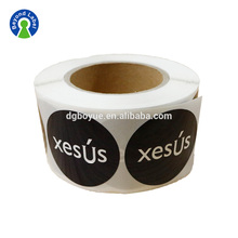 Fancy Custom Waterproof Adhesive Paper Plastic Round Brand Name Logo label Stickers For Packaging