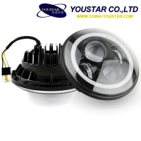 Strong Power 70w 6500k 7000k 7 inch round led headlight 12v 24v with hi/ lo beam