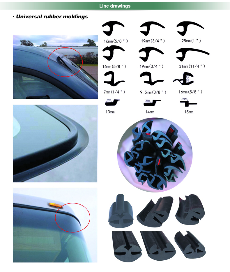 high quality rubber epdm rubber windscreen rubber