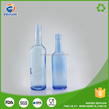 China supplier Cobalt blue glass bottle white wine in blue bottle Glass packaging factory