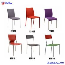 modern cheap home furniture metal frame dining chair with arms