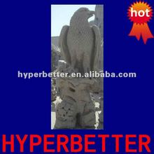 Granite standing stone eagle sculptures