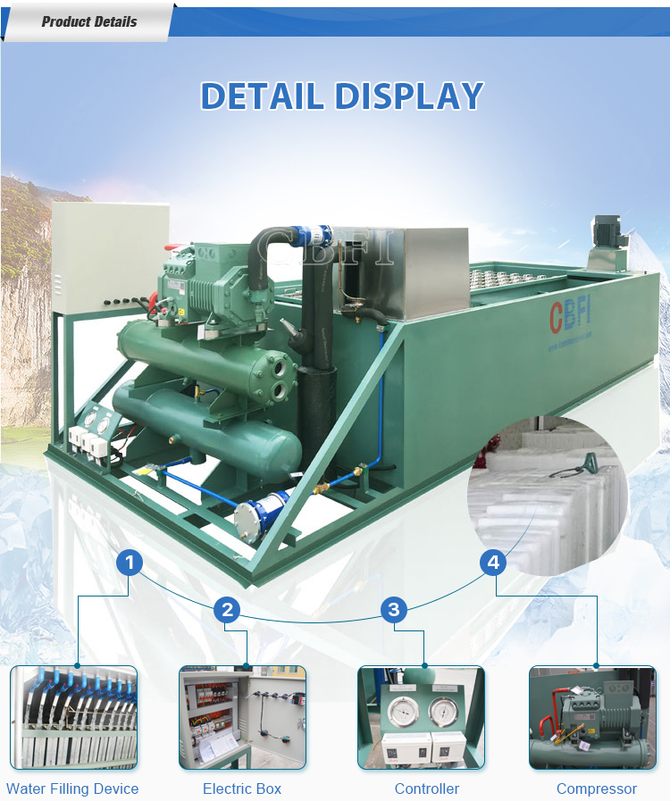 Top Quality 2 tons Bag Block Ice Making Machine for Africa Market