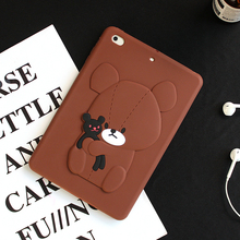 Rubber Silicone Hug Bears Covers Cases for Ipad Tablets
