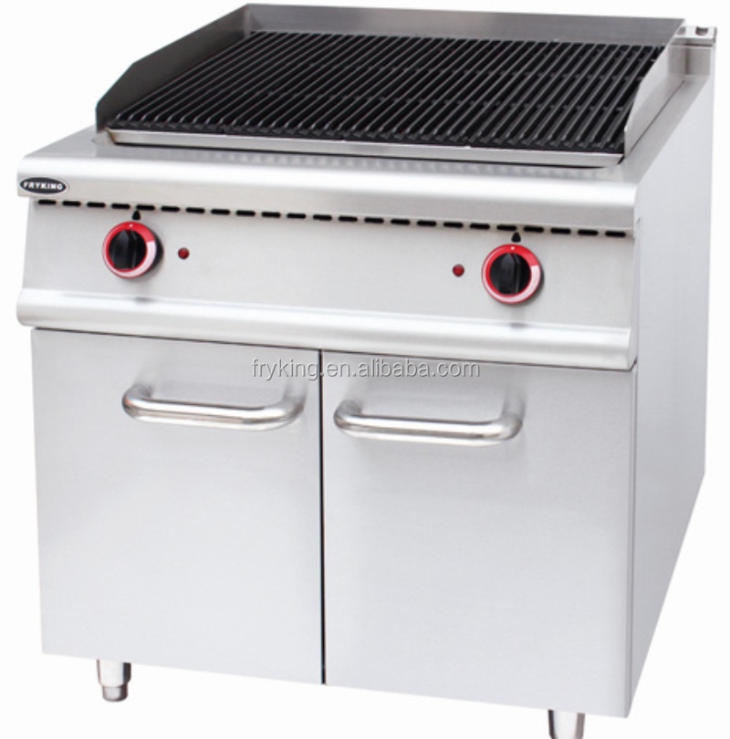 Free Standing Electric Lava Rock Grill With Cabinet For Restaurant And Hotel