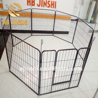 "Dog Pen Metal Fence Gate Portable Outdoor Crate Enclosures 32"" Height 16 Panel"