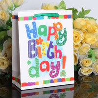 Majorin custom made colorful happy birthday gift paper bag