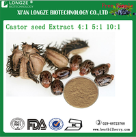 Castor seed Extract Powder semen ricini Extract Castor bean Latin Extract 5:1 10:1 20:1