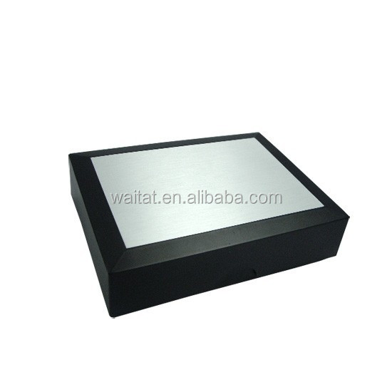 Chinese Creative Ingenious Black Vinyl Paper Wrapped Cardboard With Aluminum Gift Box