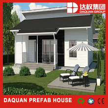 black and white style low cost prefbricated house with long lifetime
