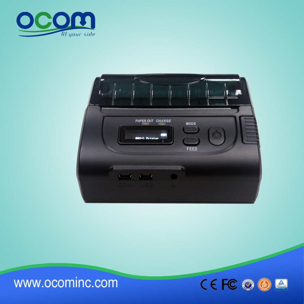 OCPP-M083: 2016 new 80mm bluetooth mini portable wifi thermal printer made in China