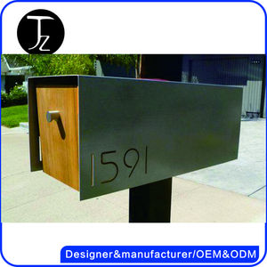 Casting Craftsman Outdoor usage stainless steel/aluminum waterproof free standing american mailbox