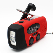 Hand Crank Portable Solar waterproof outdoor radio player
