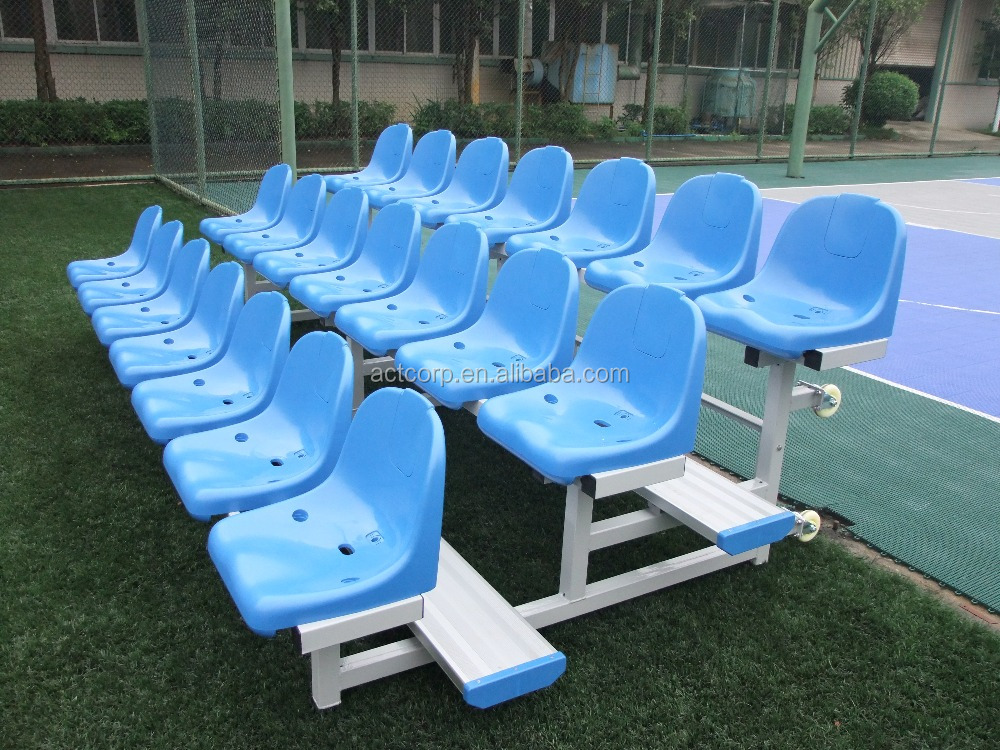Metal Stadium Seats : Metal bleacher plastic chair aluminum steel stadium seats