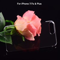 Factory Wholesale Mobile Phone Crystal Clear Hard Transparent PC Case For iphone 7 Plus 7