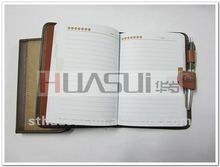 Customized white pages business writting notes book