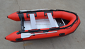 3.3m red Inflatable Boat With Aluminum Floor for summer leisure