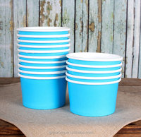 3oz Small blue disposable paper ice cream cups