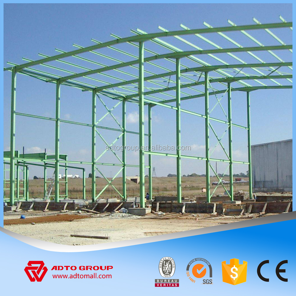 Hot sale prefabricated steel warehouse strucutral h beam column rigid frame pre-engineering construction buildings