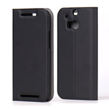 Supper Slim Leather Flip Mobile Phone Cases Covers for HTC one m8