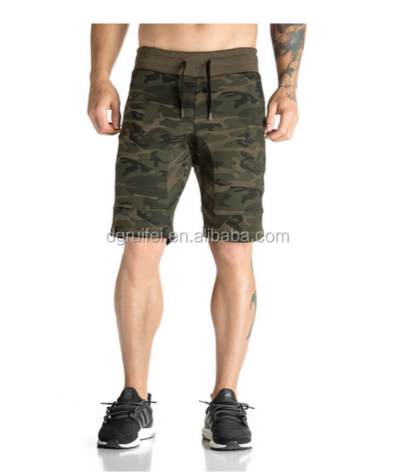 Custom gym wear crossfit men running shorts wholesale blank camo shorts