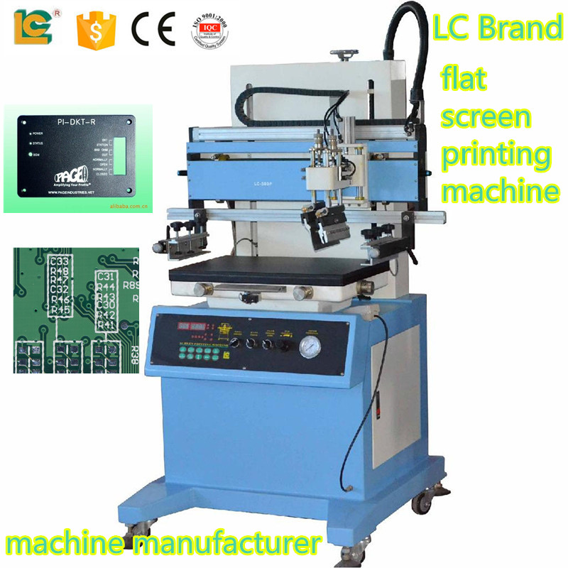LC-400P flat circuit board and metal plate printing screen print machine