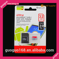 High quality 32gb mobile phone memory card with adapter