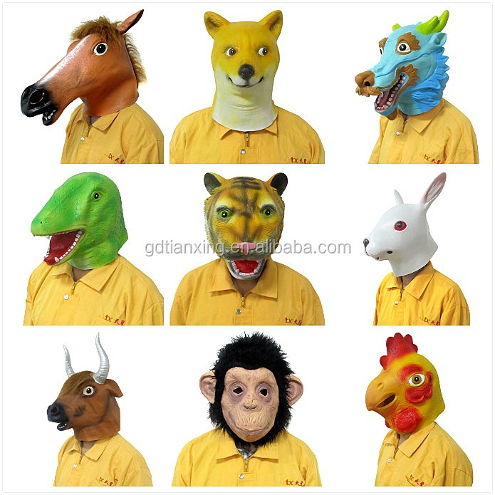 2017 halloween party costume promotional horse masks wholesale