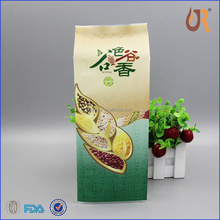 aluminum foil stand up pouch/tin tie 250g tea packaging bag