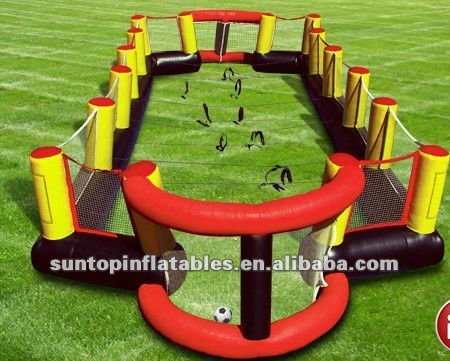 colorful interactive sports game inflatable human foosball for sales with attractive price