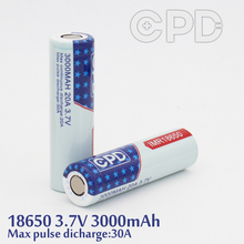 Flashlight 18650 CPD battery CPD 3000mah high capacity 30A rechargeable li-ion battery batteries for samusng