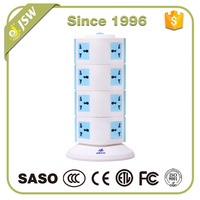 ABS Cover Pop Up Decorative Electric Vertical Power Plug Sockets Outlet