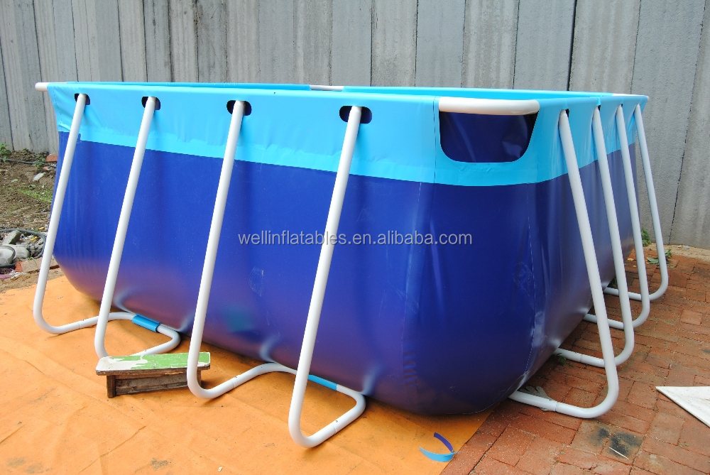 above ground outdoor giant metal frame swim pool for swimming
