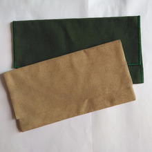 Luxury Cotton Suede Envelope Flap Style Pouch For jewelry