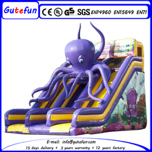 Super quality 0.6mm PVC air filled inflatable octopus slide
