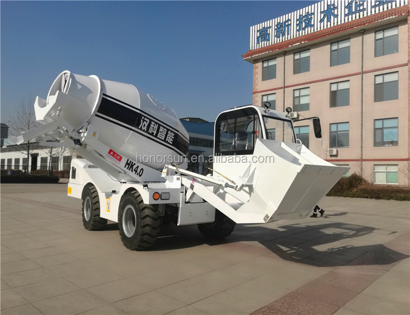 Small concrete mixer truck with factory price and high efficient for sale