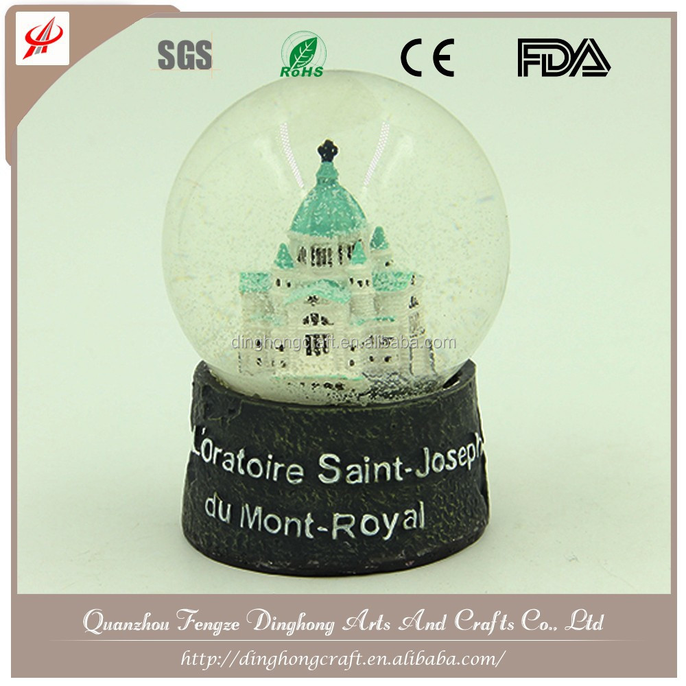 Gift Event Party Wedding Glass Resin Water Snow Ball/Snow Globe