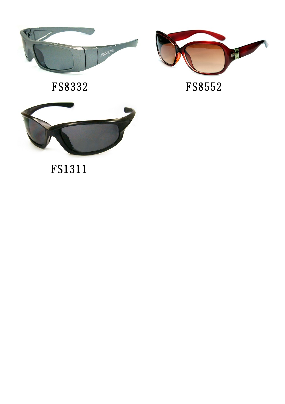 New Style Plastic Floating sunglasses 2016(30096)