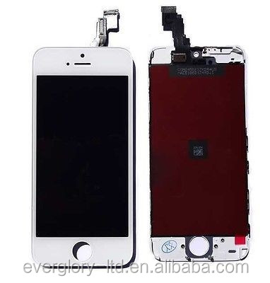 New Replacement Full LCD Screen Digitizer Assembly for iPhone 5S White Best High Copy AAAA