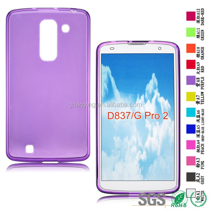 factory cell Phone pouch Clear phone covers case for LG D837 G PRO2